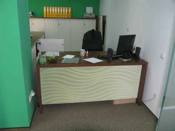 birou office placare gravura panou depa